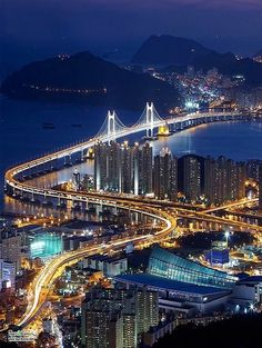 Busan, South Korea. It is the largest port city in South Korea and the world's fifth busiest seaport by cargo tonnage. Busan is located on the southeastern-most tip of the Korean peninsula. (V)