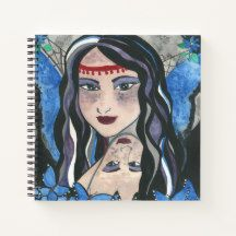 Queen Mabb The Dream Weaver Notebook Winter Fairy, Winter Magic, Star Goddess, Celtic Mythology, Curious Cat, Witch House, Cat Sleeping, Watercolor Rose, Faeries