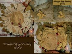 3 Easy Primitive Spring Flowers Instant Download e Pattern Burlap Flowers, Diy Flowers, Spring Flowers, Fabric Flowers, Paper Flowers, Easy Primitive Crafts, Primitive Pumpkin, Primitive Decor, Spring Crafts