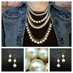 Checkout this amazing product Elegant Layer Cream Pearl Necklace at Shopintoit