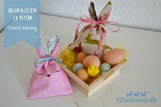Ostern naht mit großen Schritten und oft fehlen Kleinigkeiten wie Mitbringsel oder kleine Geschenke. Näht mit uns kleine Hasensäckchen zu Ostern.