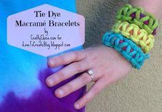 DIY Tie-Dye Macrame Bracelets DIY Crafts