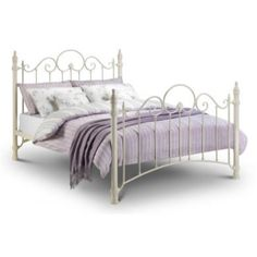 Julian Bowen Florence White Metal Bed Frame - double