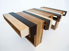love this table -- Wood-Con-Fusion by Eli Chissick #mocoloco