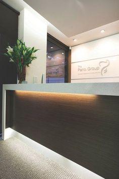 The Perio Group Design Design Decor Medical Office Design, Healthcare Design, Office Interior Design, Office Interiors, Dental Reception, Reception Desk Design, Commercial Design, Commercial Interiors, Mt Design