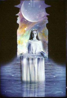 Higher Self (The High Priestess) - Sirian Starseed Tarot - If you love tarot, visit me at www.WhiteRabbitTarot.com