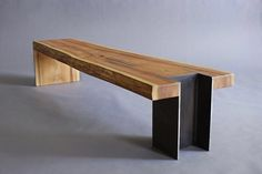 Steel slab table top