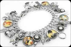Sherlock Holmes Charm Bracelet, Sherlock Holmes Jewelry, Mystery Charm Bracelet - Blackberry Designs Jewelry