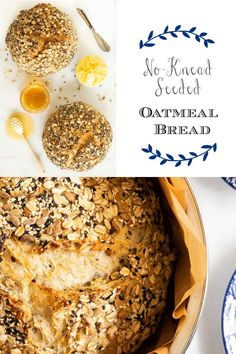 Give this No-Knead Seeded Oatmeal Bread a try! It's easy, versatile and so delicious! The hands-on time is minimal and the fabulous results are maximum! #homemadebread #nokneadbread #oatmealbread