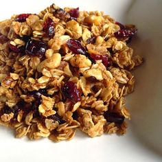 Cranberry & Walnut Granola by Christie. Oh my gosh so good.