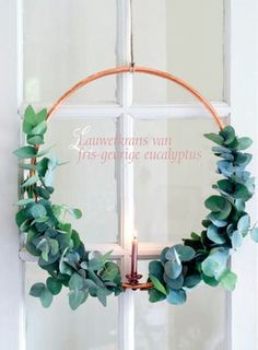 DIY-wreath: copper & eucalyptus