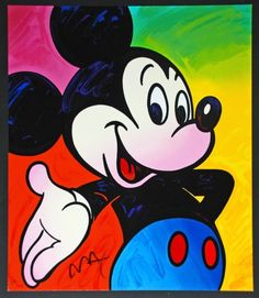 Peter Max Colorful Mickey  http://www.artisbasic.com