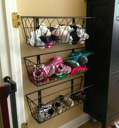 Here's 19 shoe storage and organization hacks that are worth trying even if you are on a budget. You will love these DIY shoe organizer ideas! Check it out! Organisation Hacks, School Organization, Storage Organization, Diy Storage, Garage Storage, Organizing Ideas, Organizing Kids Shoes, Closet Storage, Bedroom Storage