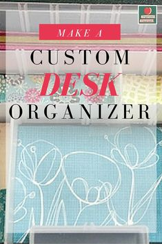 Do you have desk drawers that are so scary, you can never find what you are looking for in the massive piles of supplies?  If everything in your desk drawer is loose and at first glance, you have push pins, pens, coins, gum, and paper clips all floating around aimlessly in the drawer, you need a quick and easy solution!  This DIY desk organizer idea is super easy to put together and will hold smaller items, desk decorations, or any other office supplies you don't want rolling around.
