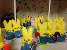 FIRST PLACE IN THE GRADES 6-12 CATEGORY. Despicable PEEP Party. One of the entries in the BFPL's 4th Annual Peeps Diorama Contest - Category: Grades 6-12 #peeps2014