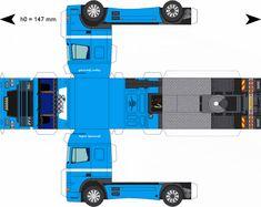 Free Download Paper Model Trucks | Trailer-Bergeijk