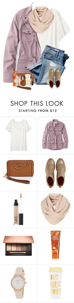"""""""<< i didn't know i was lost <<"""" by cora-g77 ❤ liked on Polyvore featuring H&M, L.L.Bean, Gap, Tory Burch, Penelope Chilvers, NARS Cosmetics, Clarins, Kate Spade, ban.do and plus size clothing"""