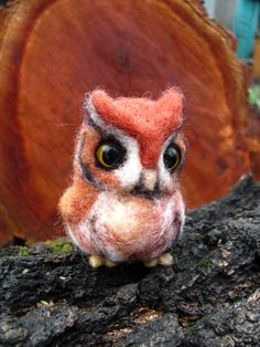 Hey, I found this really awesome Etsy listing at https://www.etsy.com/listing/128872009/needle-felted-owl-red-screech-owl