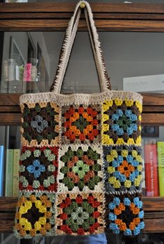 Mode Crochet, Crochet Tote, Diy Crochet, Crochet Crafts, Crochet Projects, Sewing Projects, Knitting Patterns, Sewing Patterns, Crochet Patterns