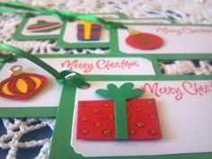 Christmas Gift Tag Presents and Ornaments by EllieMarieDesigns, $6.00