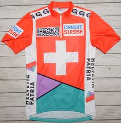 SUISSE SWITZERLAND - GONSO - vintage short sleeve MEN S NATIONAL JERSEY -  size S aa996d4f7