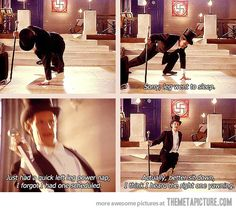 The best excuse ever for falling down… I laughed hysterically the first time I saw this episode :-P