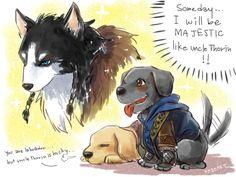Fandom: Tolkien. Thorin, Fili and Kili art by Kade