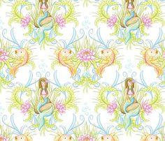 Fabric8 Mermaid Lagoon fabric by fischtaledesigns on Spoonflower - custom fabric