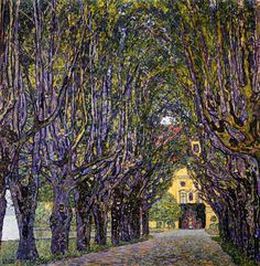 This klimt painting is one of my favorites for its use of complementary colors and perspective.