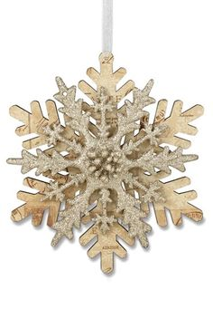 Bethany Lowe Designs Layered Snowflake Ornament available at #Nordstrom