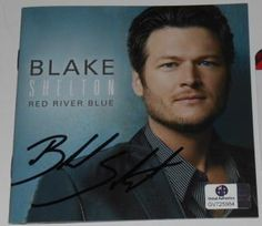 BLAKE SHELTON AUTOGRAPHED RED RIVER BLUE CD COVER GA GLOBAL GAI