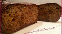 Feigenbrot – Kuchenbrot 175 g Magerquark 60 g Dinkelvollkornmehl 40 g Leinsamen geschrotet… 15 g Haferkleie (von Küchmeister) 3 Eier (144 g) 4 g Natron 1 ml flüssigen Süßstoff, nach Bed…