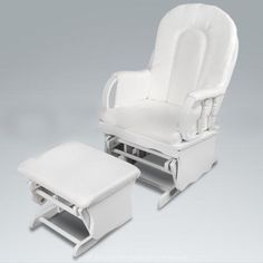 Glider Baby T Feeding Nursery Sliding Rocking Chair With Ottoman White