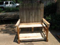 Love seat/ bench pallet furniture