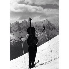 Robert Doisneau, Chamonix, 1957.