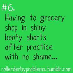love this- b/c i used to get gas in my derby gear! I know Sweet Feet also did this- I miss Derby! Roller Derby, Funny Gymnastics Quotes, Gymnastics Things, Funny Quotes, Life Quotes, Funny Sports Quotes, Qoutes, Ballet, Gymnastics Problems