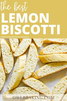 Lemon Almond Biscotti Recipe, Best Biscotti Recipe, Italian Almond Cookies, Lemon Cookie Recipe, Italian Biscotti Recipe, Delicious Cookie Recipes, Easy Cookie Recipes, Yummy Cookies, Italian Food Menu