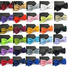 2018 Latest Bow Ties Striped Design Shirt Wedding Dresses Butterfly Prom Dresses Wine Red&silver&bright Red Butterflies Bowties Comfortable Feel Apparel Accessories