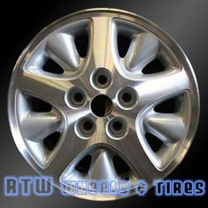 "Plymouth Voyager wheels for sale 1996-2000. 15"" Machined Silver rims 2071 - http://www.rtwwheels.com/store/shop/plymouth-voyager-wheels-for-sale-1996-2000-15-machined-rims-2071/"