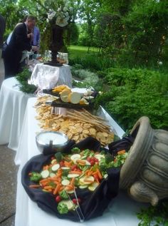 Outdoor buffet by www.ASilverwareaffair.net  #Chattanooga #Event #Food #Catering