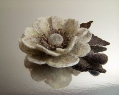 Needle felted flower, from Europe