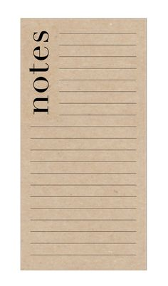 A chíc notepad with bold, modern font in black ink is ideal for any desk or kitchen. Perfect for capturing quick notes, lists and to dos! The notepad has 40 pages printed on 70lb kraft or white text paper and is 3 3/4 x 7 1/2 inches tall. The pages are sealed at the top for easy tear with chipboard back page for a sturdy finish. Choose kraft or white paper from your variations.