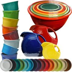 Fiesta Dinnerware - my favorite! Didn't take mine with me in my divorce - I'll definitely be replacing when I get my own place!