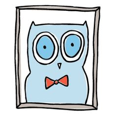 A father's day owl complete with bow tie!