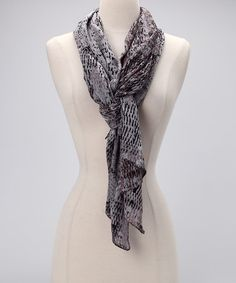 Take a look at this Gray & Black Cobra Scarf by RELIQUE on #zulily today!