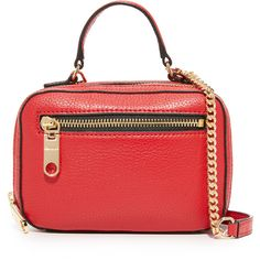Milly Astor Mini Satchel ($88) ❤ liked on Polyvore featuring bags, handbags, leather cross body handbags, red handbags, red purse, mini handbags and leather satchel purse