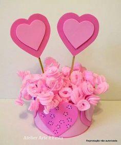 Enfeite Coração #handmade #atelierarteefesta #festainfantil #aniversárioinfantil #coração