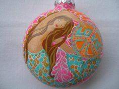 Mermaid+Love++Boho++Mandala+Christmas+Ornament++by+MermaidBeachPad