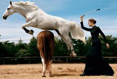 From the Archives: Horses in Vogue in Honor of Belmont Stakes. Natalia Vodianova - Photographed by Steven Klein, Vogue, September 2005