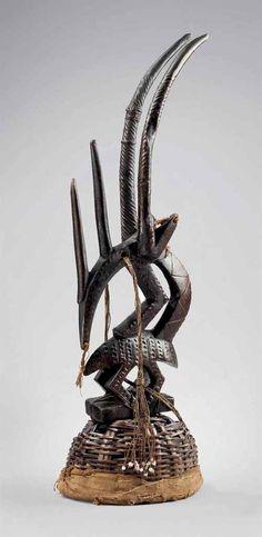 Bamana Chi Wara (Abstract) Headdress, Mali http://www.imodara.com/item/mali-bamana-chi-wara-antelope-headdress-abstract/